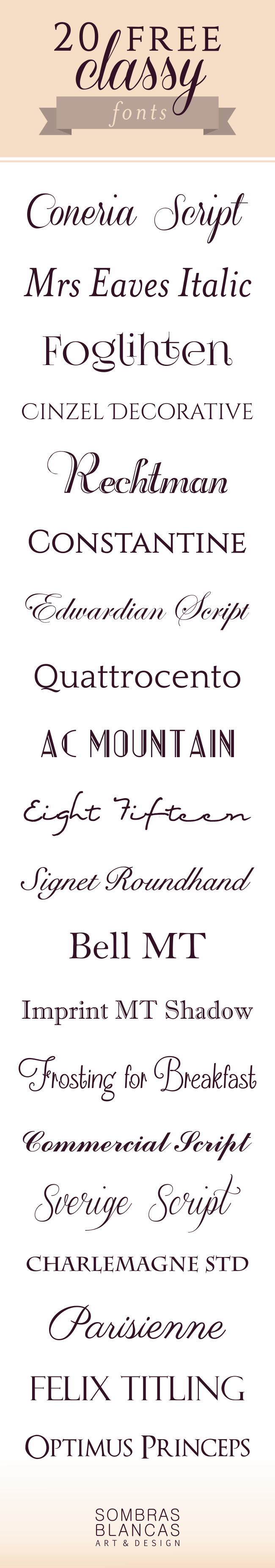 20 Classy Fonts to Download for Free + March discount!