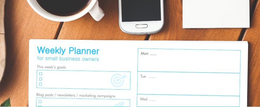free printable weekly planner for small business owners